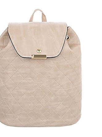 8df220fc82ac54 Ital-Design Damen-Tasche Kleine Rucksack Used Optik Freizeittasche  Kunstleder Creme TA-C590