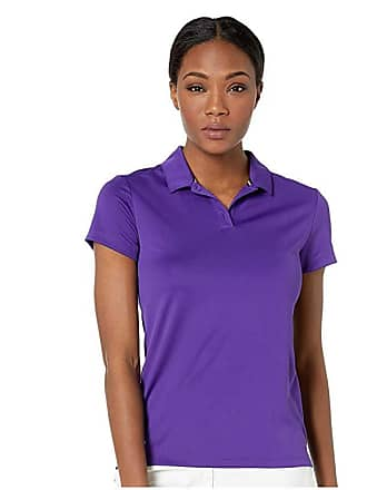 d7909b1b Nike Dry Polo Short Sleeve (Court Purple/White) Womens Clothing