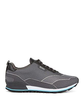 BOSS Running-inspired sneakers in jacquard nylon