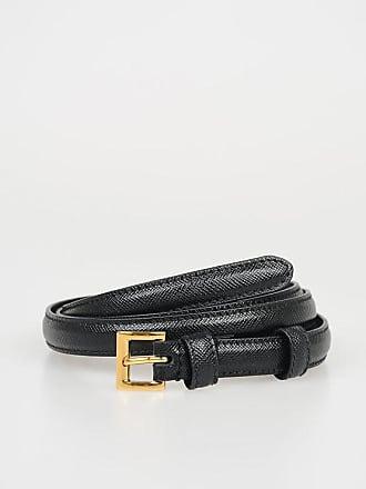 15328bfb95598 Prada 15 mm Saffiano Leather Skinny Belt Größe 85