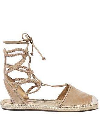 66e009e27d4 Schutz Schutz Woman Lace-up Suede Espadrille Sandals Sand Size 5.5