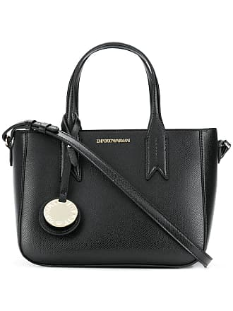 Emporio Armani medium charm-detail tote - Black