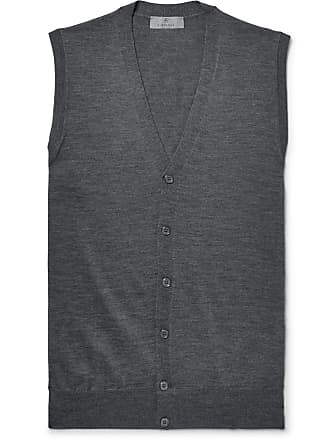Canali Slim-fit Merino Wool Sweater Vest - Dark gray