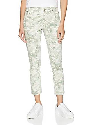 Nine West Womens Gramercy Skinny Crop, Lily pad Fray Hem/Watercolor camo, 14