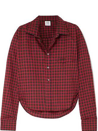 VETEMENTS Tartan Cotton-poplin Shirt - Red