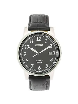 Seiko Mens SKA781 Silver Leather Japanese Quartz Fashion Watch