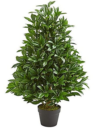 Nearly Natural 9132 3-Ft. Bay Leaf Artificial Topiary UV Resistant (Indoor/Outdoor) Silk Trees Green