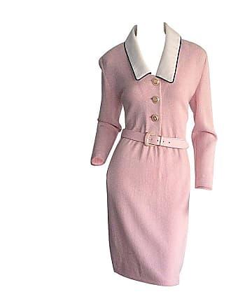 4d7edd58f660 St. John Vintage St. John Marie Gray Pink Santana Knit Belted Dress W