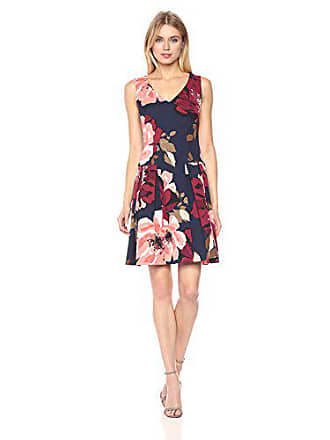 Trina Turk Womens Devoted Botanical Medley Faille Printed Dress, Multi 2