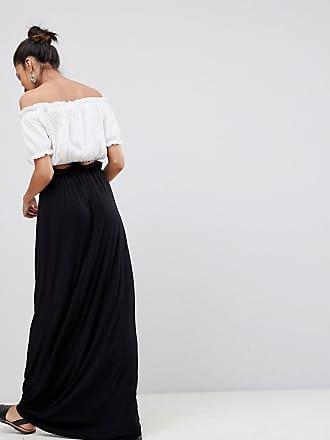f575e13aef Asos Tall ASOS DESIGN Tall maxi skirt with paperbag waist - Black