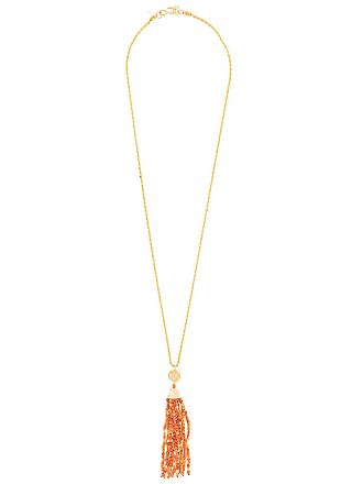 Kenneth Jay Lane beaded tassel necklace - Dourado