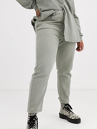 Missguided co-ord denim mom jean in sage-Green