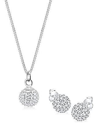 002732307d91 Elli Juego de joyas de plata de ley con cristal swarovski