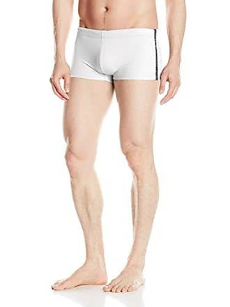 325d8c6a31 Emporio Armani EA7 Mens Ea7 Side Piping Swim Trunk, White, X-Small/