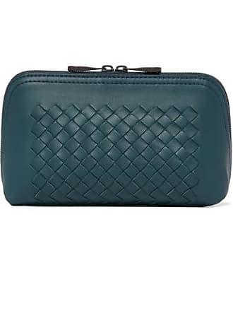 Bottega Veneta Intrecciato Leather Pouch - Green 5004986dcdff5