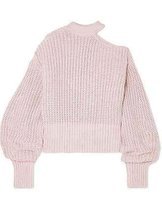 7ad619161a18 Self Portrait Cutout Cotton And Wool-blend Sweater - Baby pink