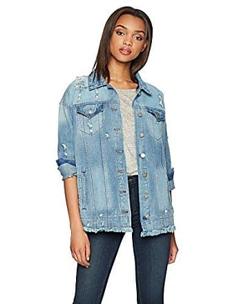 William Rast Womens Trucker Denim Jacket, Seaway Vintage/Enjoy Every Monument of Your Life Embroidery, Small