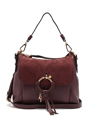 See By Chloé Joan Small Suede And Leather Shoulder Bag - Womens - Burgundy