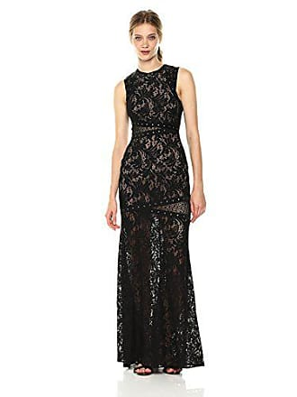 Bcbgmaxazria BCBGMax Azria Womens Dominique Knit Dress with Lace Illusion and Grommet Details, Black, 2
