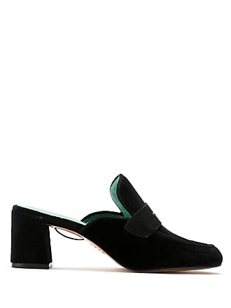 Blue Bird Shoes Mule de salto com amarração - Preto