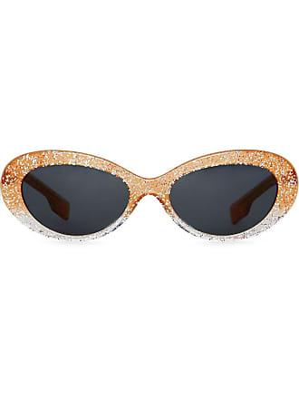 ae66957abdfd Burberry Glitter Cat-eye Frame Sunglasses - Orange