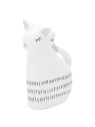 Urban Enfeite Porcelana Little Lovely Cat Branco 3,5X6X7,3 Cm Urban