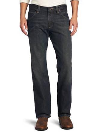 Wrangler Mens Retro Relaxed Fit Straight Leg Jean, Worn Bark, 35x30