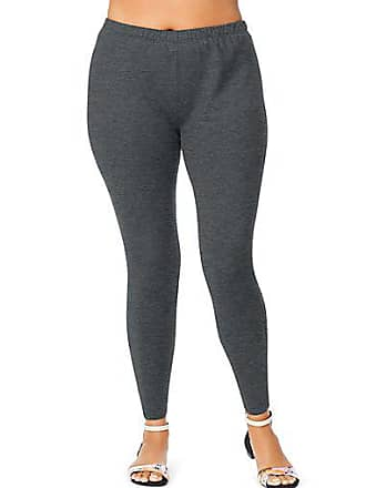 Just My Size Stretch Cotton Jersey Womens Leggings Charcoal Heather 1X