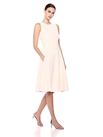 Calvin Klein Womens Sleeveless Princess Seamed A-line Midi Dress, Blossom 4