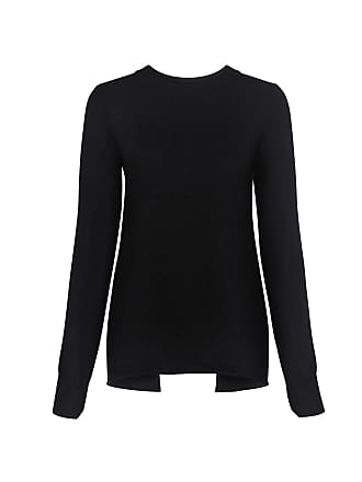 A.L.C. Valerie Lace-up Open Back Wool Sweater Black