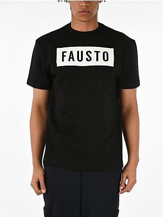 FAUSTO PUGLISI T-shirt Girocollo con Logo Stampato taglia S