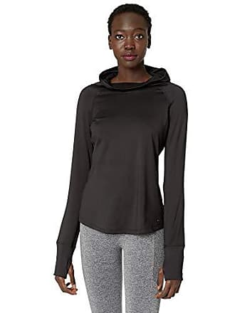 Maidenform Womens Sport Baselayer Funnel Neck Hooded Top, Black, Small