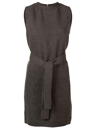 Rick Owens Vestido acinturado sem mangas - Cinza