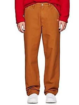 Martine Rose Mens Cotton Canvas Carrot-Leg Work Trousers - Neutral Size M