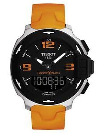 6f8aa31e95d8 Tissot Reloj T-Race Touch con Numerales Naranjas Contrastantes br  Naranja