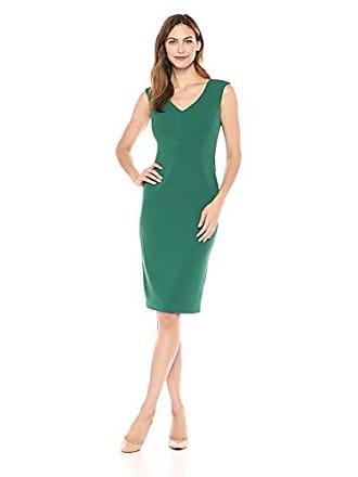 Ivanka Trump Womens Sleeveless Compression Dress, Jungle, 8