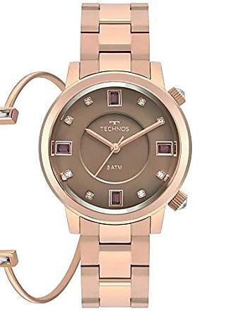 Technos Relógio Technos Crystal Feminino Rosé 2039bv/k4m