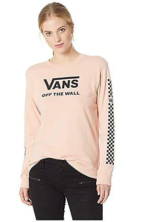 b1be59281d0 Vans Funday Long Sleeve Boyfriend Tee (Rose Cloud) Womens T Shirt