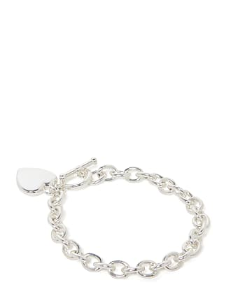 Forever New True Heart and Toggle Charm Bracelet - Silver - 00