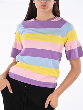 Blumarine Striped Short Sleeve Sweater Größe 44
