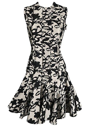 5c739cbfcc Lanvin Dress - Size 4 Black   Grey Print Reverse - Ruffle Skirt Cocktail  Dress