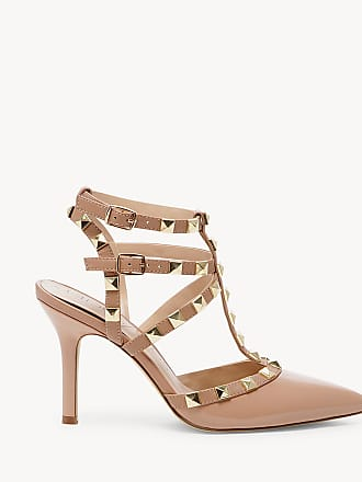 Sole Society Womens Tiia Studded T Strap Heels Adobe Size 9.5 Faux Leather From Sole Society