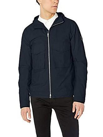J.Lindeberg Mens Hooded Cotton Nylon Jacket, JL Navy, Medium