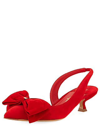 743902ffbaf6 Salvatore Ferragamo Reda Slingback Pumps with Floppy Bow   Vara Hardware