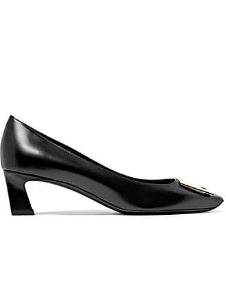 e60fef11b9b5 Roger Vivier Belle Vivier Trompette Leather Pumps - Black