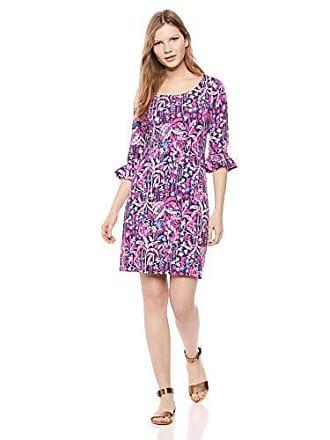 deb5570ee8b24b Lilly Pulitzer Womens UPF + Sophie Ruffle Dress, Bright Navy Swing of  Things, S