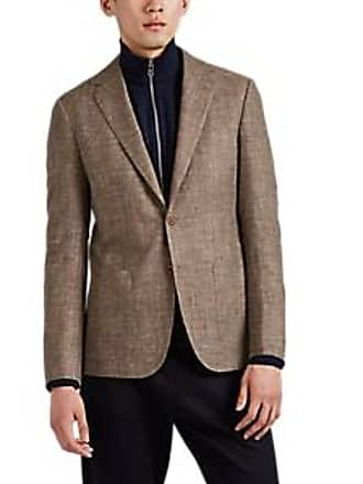 27582d56f207d0 Sartorio Mens Mélange Basket-Weave Two-Button Sportcoat - Beige, Tan Size 38