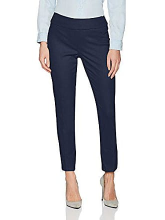 Ruby Rd. Womens Pull-on Stretch Knitted Twill Pant, Navy, 14