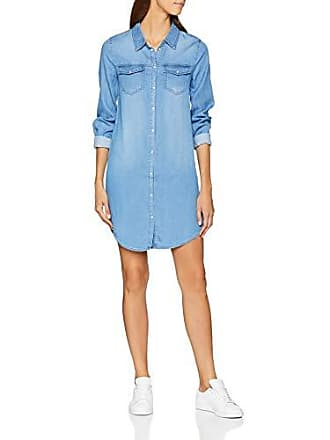 61650cd2c7bc29 Vila dames jurk Vibista Denim Dress-noos - jurk 42 (fabrieksmaat  XL)