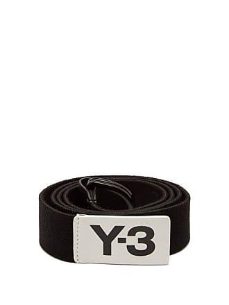 Yohji Yamamoto Logo Stretch Webbing Belt - Mens - Black